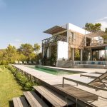 Pool decking and gardens